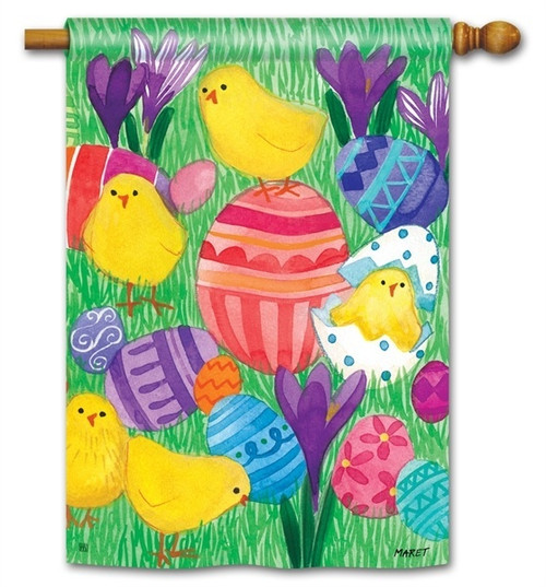 Easter Garden And House Decorative Outdoor Yard Flags For