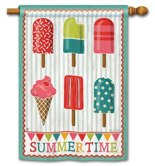 "Cool Treats House Flag - 28"" x 40"" - BreezeArt - 2 Sided Message"