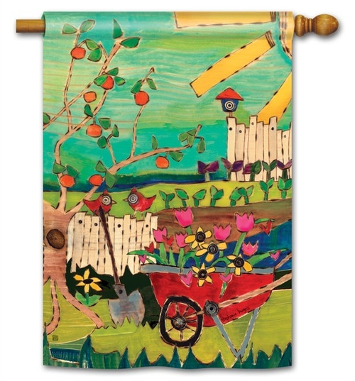 "Dig in the Dirt House Flag - 28"" x 40"" - BreezeArt"