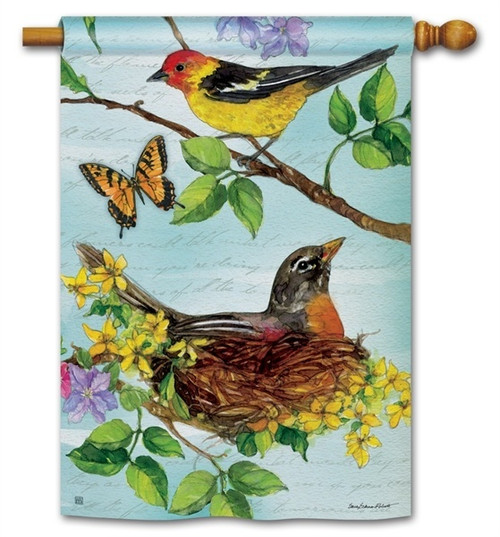 "Flora and Fauna House Flag - 28"" x 40"" - BreezeArt"