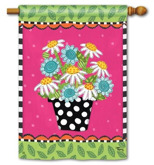 "Frolic Flowers House Flag - 28"" x 40"" - BreezeArt"