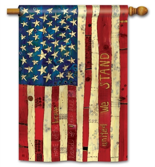 "Home of the Brave House Flag - 28"" x 40"" - BreezeArt"