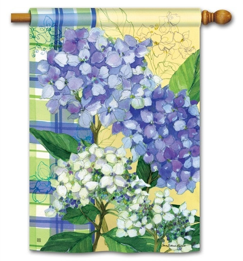 "Hydrangea Dance House Flag - 28"" x 40"" - BreezeArt"