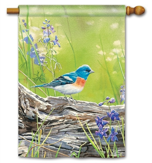 "Meadow Bluebird House Flag - 28"" x 40"" - BreezeArt"
