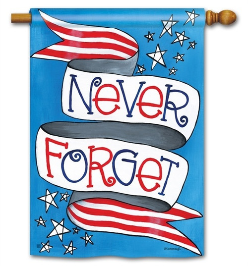 "Patriotic Tribute House Flag - 28"" x 40"" - BreezeArt"