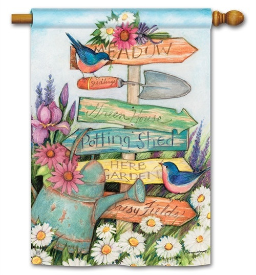 "Signs of Summer House Flag - 28"" x 40"" - BreezeArt"