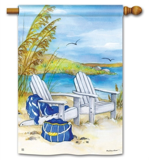 Summer House Flag - BreezeArt