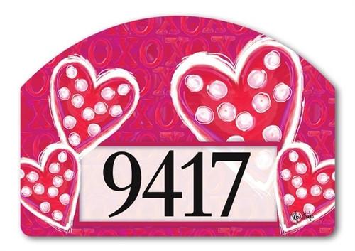 """Valentine Wishes Yard DeSign Address Sign - 14"""" x 10"""""""