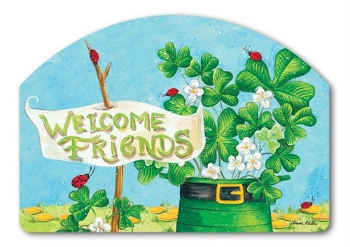 "Shamrocks & Ladybugs Yard DeSign Yard Sign - 14"" x 10"""