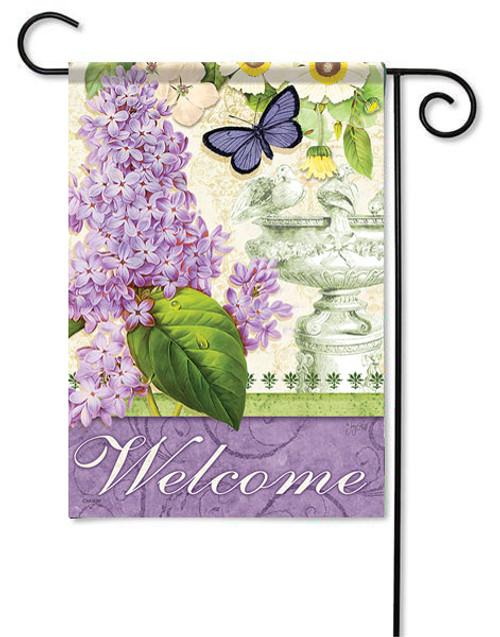 "Lilac Elegance Garden Flag - 13"" x 18"" - Flag Trends"