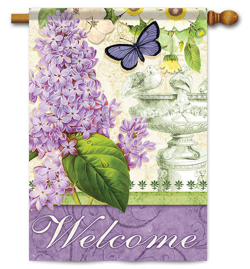 "Lilac Elegance House Flag - 28"" x 40"" - 2 Sided Message"