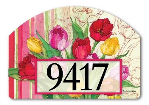 "Glorious Garden Yard DeSign Address Sign - 14"" x 10"""