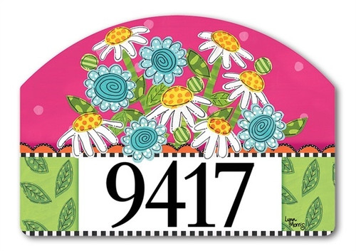 "Frolic Flowers Yard DeSign Address Sign - 14"" x 10"""