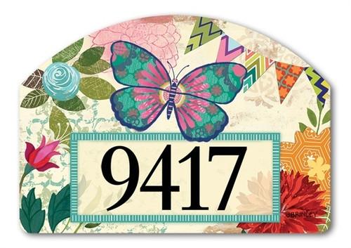 "Capistrano Butterfly Yard DeSign Address Sign - 14"" x 10"""