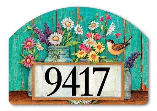 "Just Picked Yard DeSign Address Sign - 14"" x 10"""