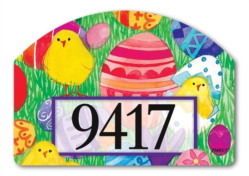 "Chicky Babes Yard DeSign Address Sign - 14"" x 10"""