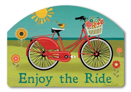 "Summer Ride Yard DeSign Yard Sign - 14"" x 10"""