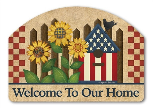 "Americana Garden Yard DeSign Yard Sign - 14"" x 10"""