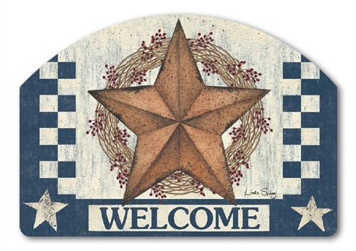 "Blue Barn Star Yard DeSign Yard Sign - 14"" x 10"""