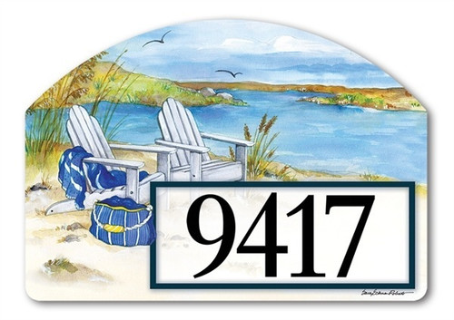 "Waterside Yard DeSign Address Sign - 14"" x 10"""