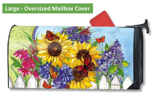 Butterflies and Blossoms LARGE Magnetic Mailbox Cover