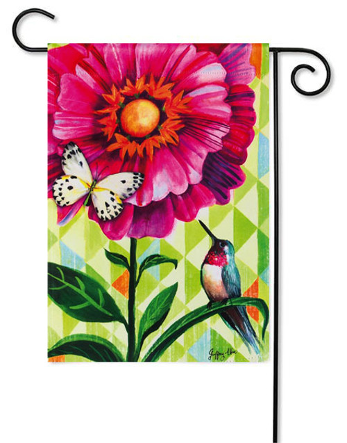 "Flower Burst Garden Flag - 12.5"" x 18"" - 2 flags in 1"