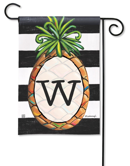 "Southern Welcome Monogram Garden Flag Letter W - 12.5"" x 18"""