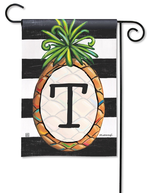 "Southern Welcome Monogram Garden Flag Letter T - 12.5"" x 18"""