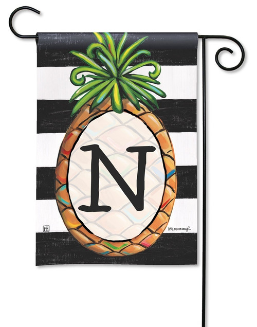"Southern Welcome Monogram Garden Flag Letter N - 12.5"" x 18"""