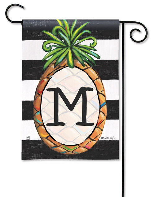 "Southern Welcome Monogram Garden Flag Letter M - 12.5"" x 18"""