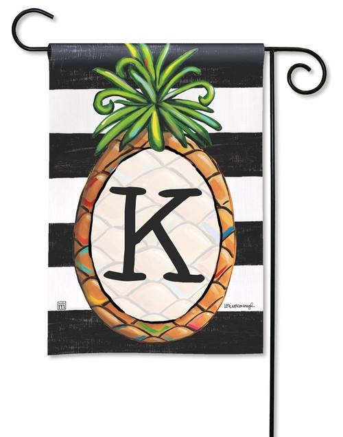 "Southern Welcome Monogram Garden Flag Letter K - 12.5"" x 18"""