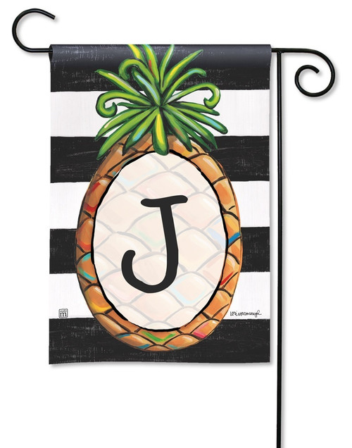 "Southern Welcome Monogram Garden Flag Letter J - 12.5"" x 18"""