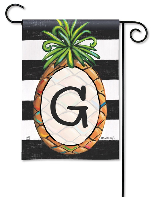 "Southern Welcome Monogram Garden Flag Letter G - 12.5"" x 18"""