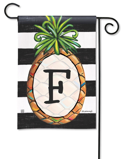 "Southern Welcome Monogram Garden Flag Letter F - 12.5"" x 18"""