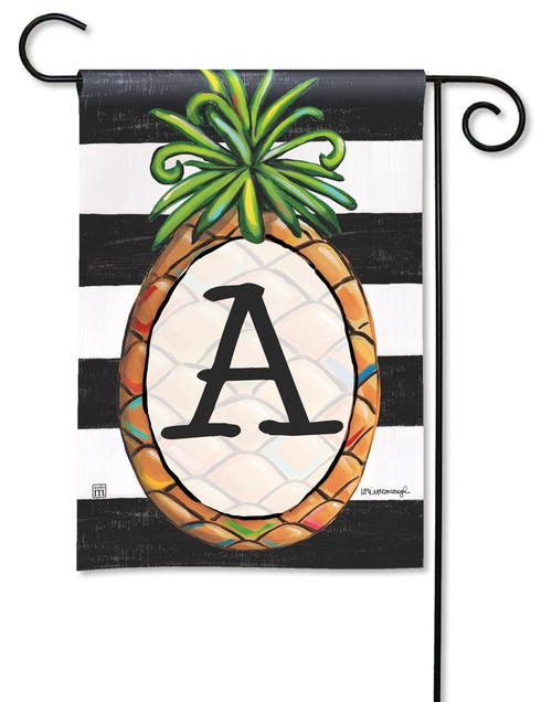 "Southern Welcome Monogram Garden Flag Letter A - 12.5"" x 18"""