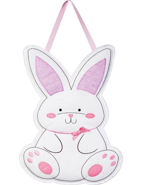 """Easter Bunny Door Decor - 15"""" x 21"""" - Hang on Your Front Door"""