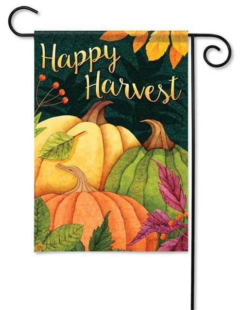 """Pumpkin Patch Garden  Flag - 13"""" x 18"""" - Flag Trends - 2 Sided Message"""