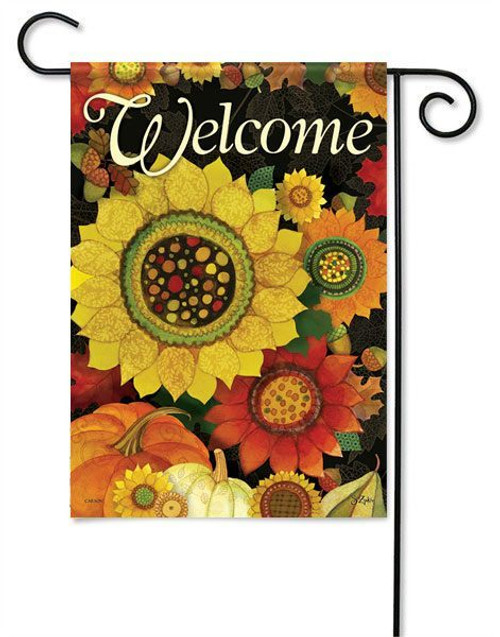 "Autumn Sunflowers Garden  Flag - 13"" x 18"" - Flag Trends - 2 Sided Message"