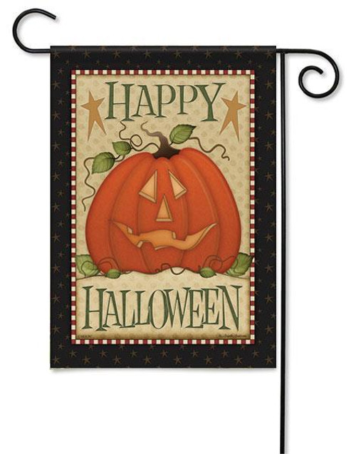 "Country Halloween Garden  Flag - 13"" x 18"" - Flag Trends - 2 Sided Message"