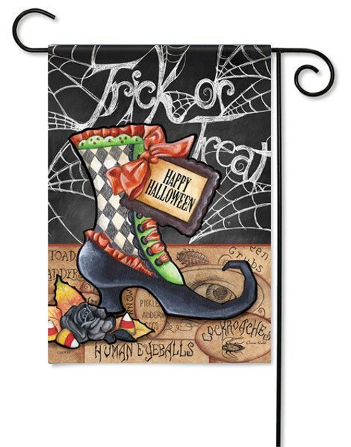 "Halloween Boot Garden  Flag - 13"" x 18"" - Flag Trends - 2 Sided Message"
