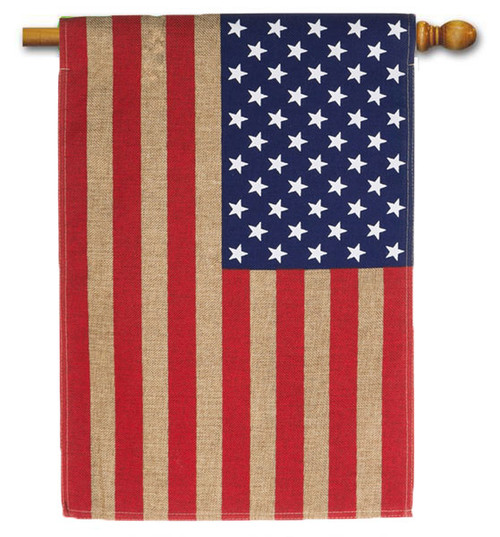 "Burlap USA American House Flag - 28"" x 44"""