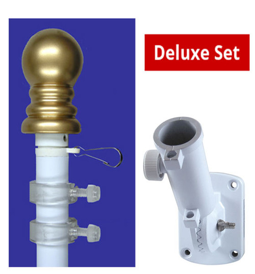 Deluxe Set: Flag pole & bracket set
