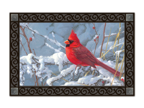 Folk Cardinal MatMates Doormat - Tray Sold Separately