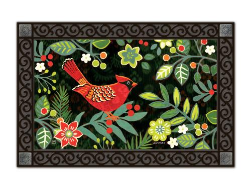 """Folk Cardinal MatMates Doormat - 18"""" x 30"""""""