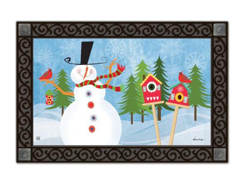 "Snowman Whimsy MatMates Doormat - 18"" x 30"""