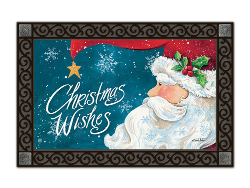 "Santa Wishes MatMates Doormat - 18"" x 30"""