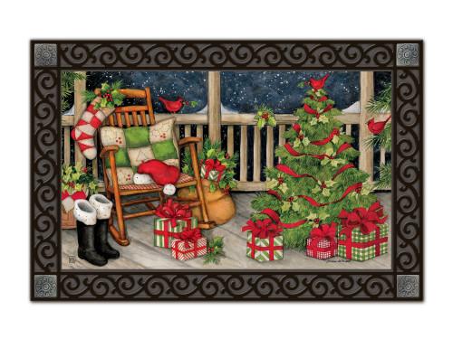 """Santa's Porch MatMates Doormat - 18"""" x 30"""""""