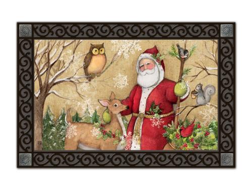 """Woodland Santa MatMates Doormat - 18"""" x 30"""""""