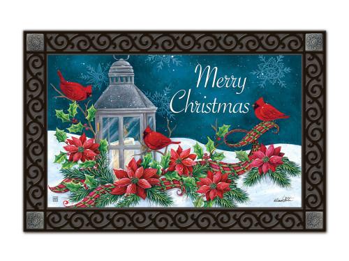 """Cardinal Christmas MatMates Doormat - 18"""" x 30"""""""