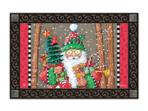"Jolly Santa MatMates Doormat - 18"" x 30"""
